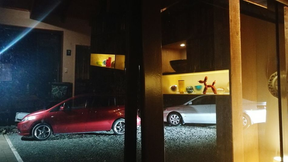 Night visions Deep Night Reflections Textures And Surfaces Empty Patterns EyeEmNewHere Car Indoors  Transportation Illuminated Night