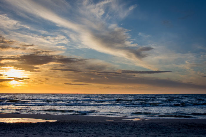 Baltic sea Baltic Be. Ready. Beach Beauty In Nature Cloud - Sky Europe Horizon Over Water Idyllic Nature No People Outdoors Scenics Sea Sky Sunset Tranquil Scene Tranquility Water Wave łeba