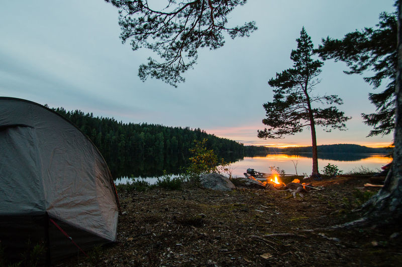 Adventure Allemansrätten Beauty In Nature Bonfire Bonfire Night Camp Campfire Camping Camping Day Forest Freedom To Roam Lake Midsommar Midsummer Nature No People Outdoor Outdoors Scenics Sky Tent Tranquility Tree Water