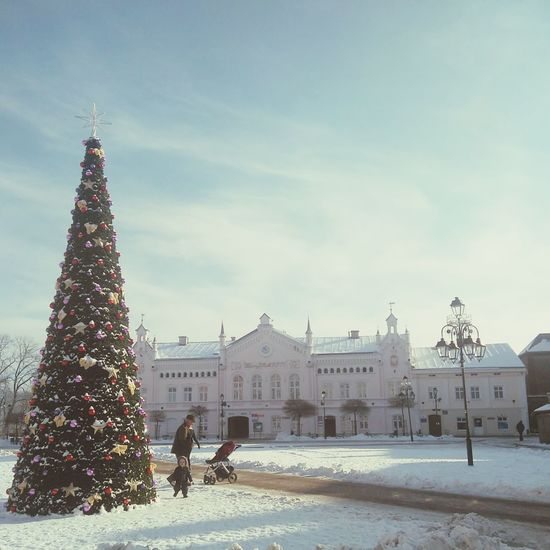 Tree Christmas Tree Built Structure Christmas Celebration Christmas Lights Architecture Cloud - Sky City Sky People Day Outdoors Winter Snow Nature Child Childhood Grandpa Play The City Light