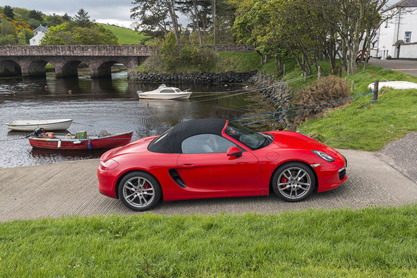 Slipway Red Automobile Convertible Roof Sports Car Guards Red Porsche Porsche Boxster 981 S Arch Bridge Architecture Bridge Bridge - Man Made Structure Built Structure Car Connection Day Grass Land Vehicle Luxury Mode Of Transportation Motor Vehicle Nature No People Plant Red River Transportation Tree Water