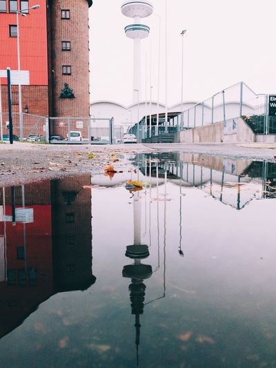 Water Puddle Reflection Architecture Built Structure Building Exterior Water Reflection Nature No People City Sky Building Day Outdoors Street