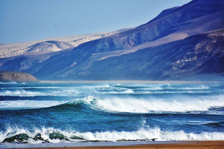 Cofete beach on fuerteventura canary island in spain