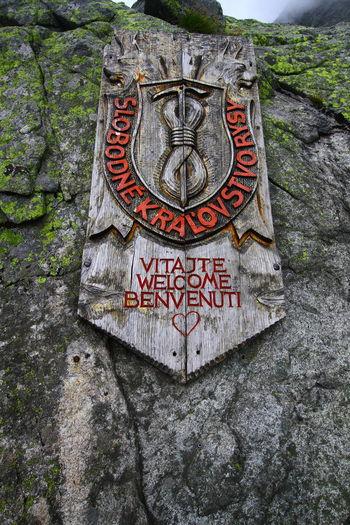 Rysy Peak Badge Chata Pod Rysam Close-up Communication Day No People Outdoors Rysy Text The Week On EyeEm