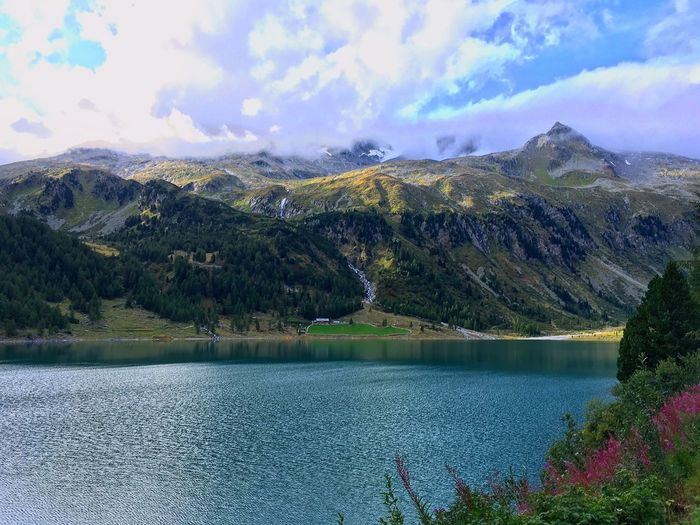 Neves Südtirol Water Cloud - Sky Sky Scenics - Nature Mountain Nature Plant Tranquility Lake First Eyeem Photo EyeEmNewHere A New Beginning