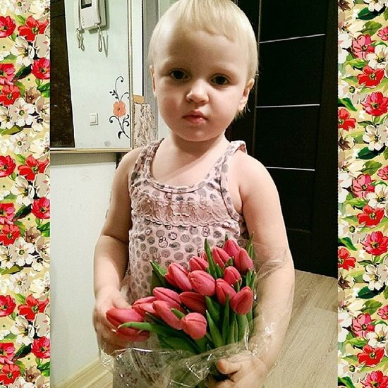 Полли начинает позировать всегда с серьёзным видом... Всех дев с проф.праздником!! восьмоемарта Тюльпаны праздник женскийдень
