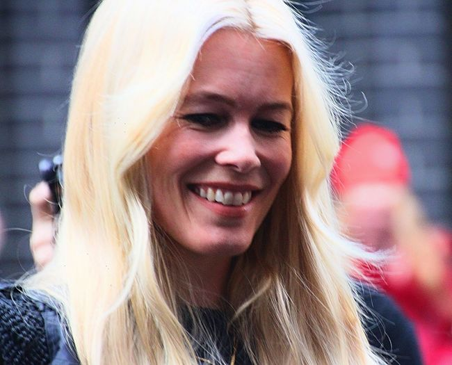 Claudia Schiffer Claudia Schiffer Blond Hair Close-up Day Ex Supermodel Long Hair Outdoors Portrait Real People Smiling