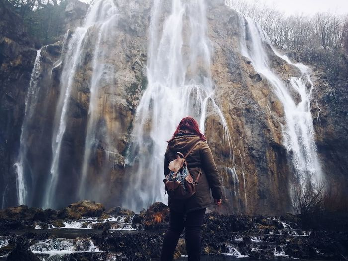 Waterscape Waterfall Plitvice Plitvice National Park Winter Nature Beautiful Nature Natural Wonders Hiking Travel Travel Photography Water Waterfall City Young Women Beauty Portrait Women Motion Beautiful People Cold