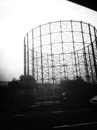 Gas Cylinder Silhouette Drivebyphotography Urban Geometry