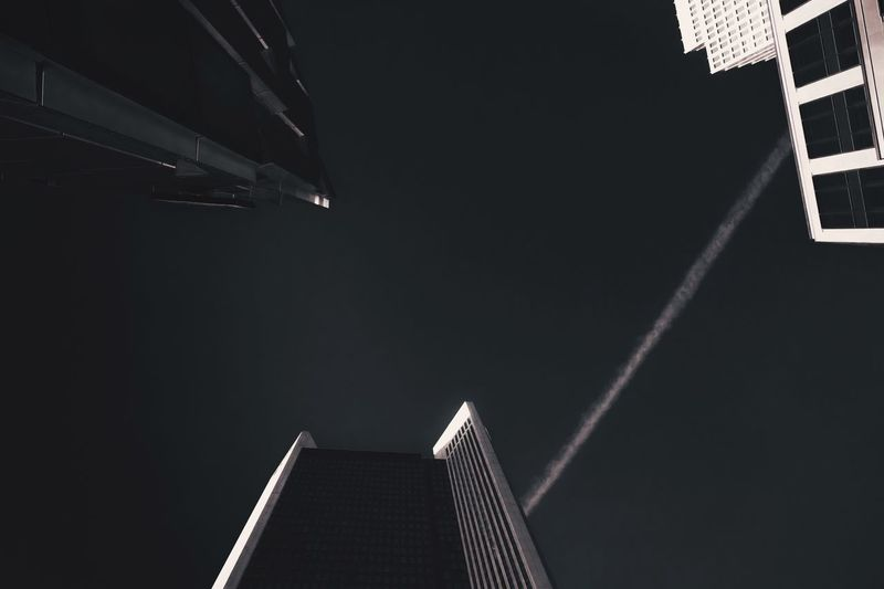 - CHEMTRAIL CONNECTED - Check This Out Chemtrails Office Building Three Architecture Built Structure Night Building Exterior Low Angle View Building Sky No People Tower Nature Tall - High City Outdoors Travel Office Building Exterior Skyscraper Travel Destinations Modern Clear Sky