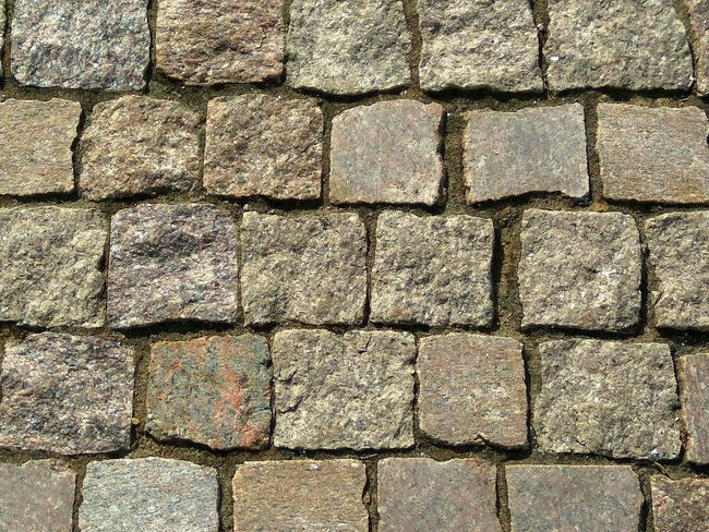 Backgrounds Stone Tile Full Frame Pattern Paved Close-up Cobbled Detail Paving Stone LINE Roadways