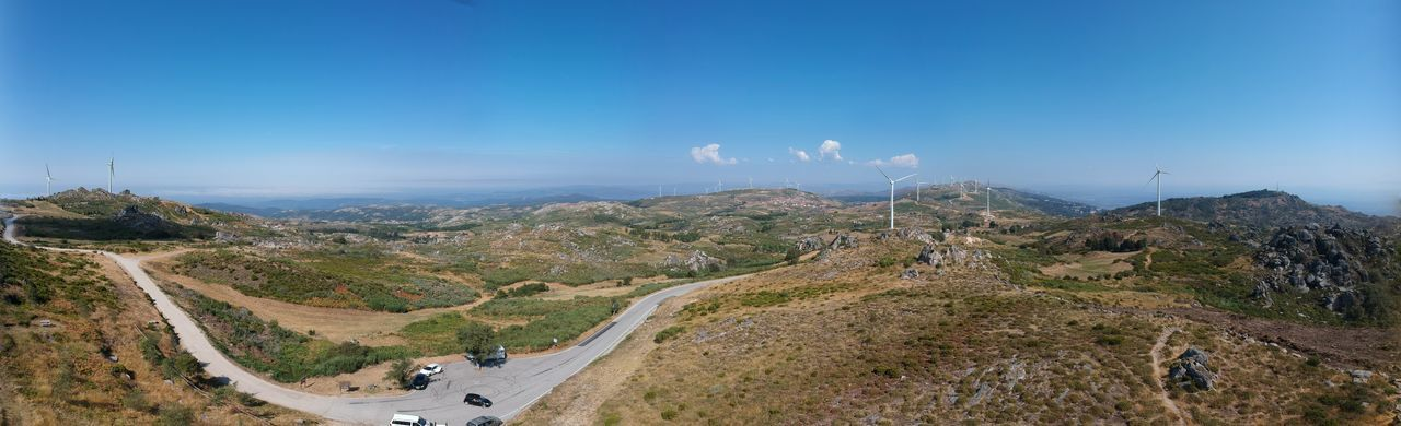 The view from Caramulinho - Caramulo, Portugal 2018 Beauty In Nature Blue Cloud - Sky Day Environment Land Landscape Mountain Nature No People Non-urban Scene Outdoors Panoramic Plant Road Scenics - Nature Sky Tranquil Scene Tranquility Transportation