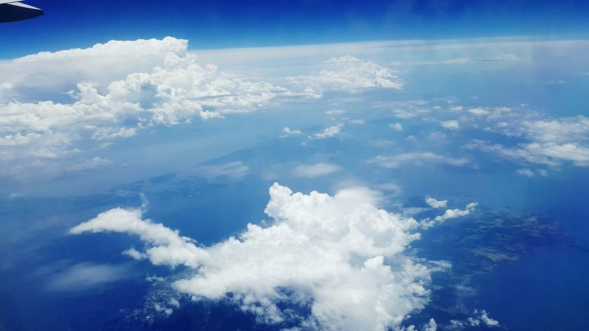 No People Blue Bright Sky View From The Airplane Window Flying High Japan Sky Airplaneview Clouds And Sky Heaven Cruisingaltitude Color Palette A Bird's Eye View Unedited Aerial Photography Nature _collection Finding New Frontiers Miles Away The Great Outdoors - 2017 EyeEm Awards Perspectives On Nature Go Higher