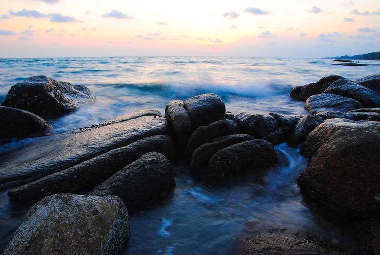 Water Rock Sky