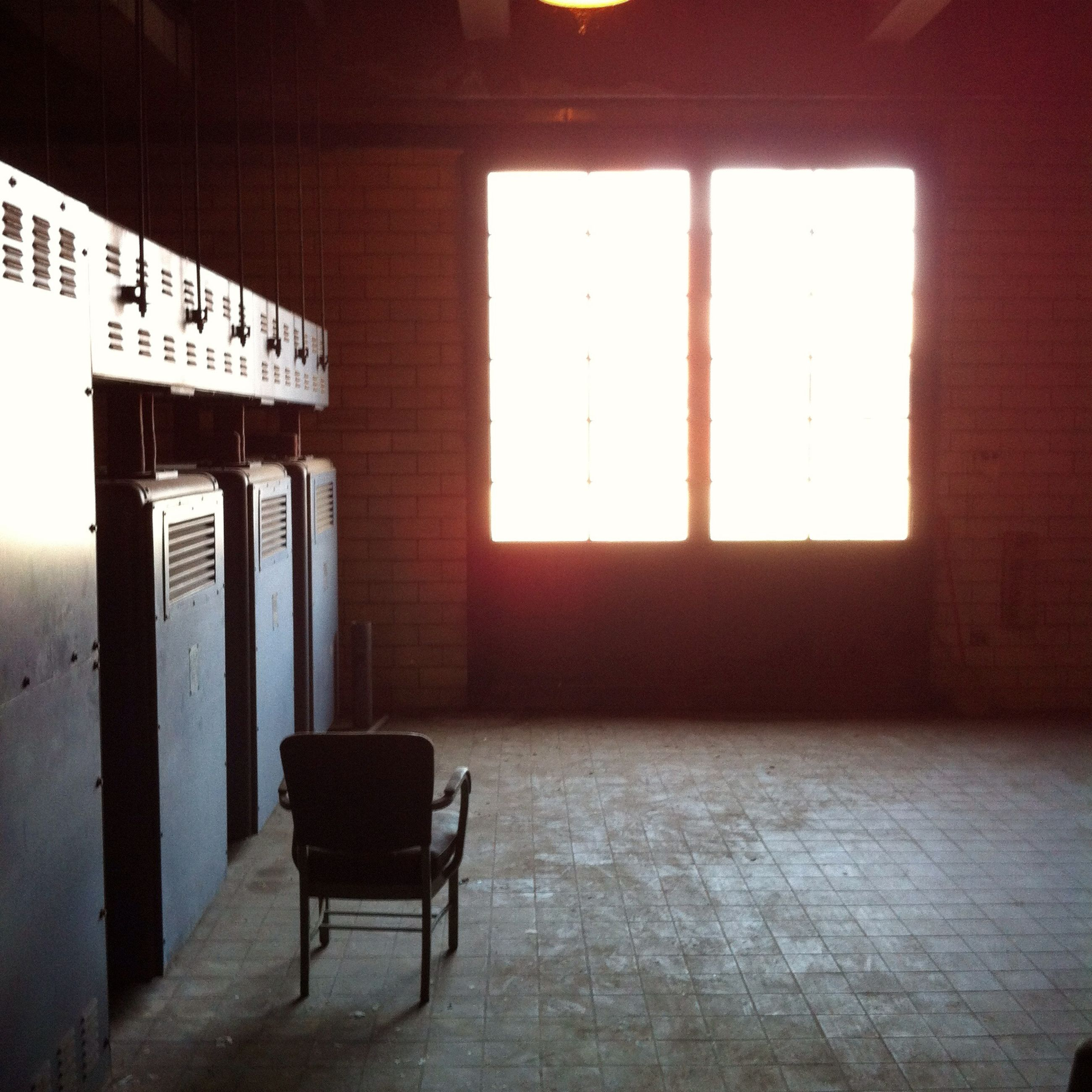 indoors, window, absence, empty, chair, architecture, built structure, table, wall - building feature, seat, no people, house, day, sunlight, home interior, door, wall, flooring, text, communication