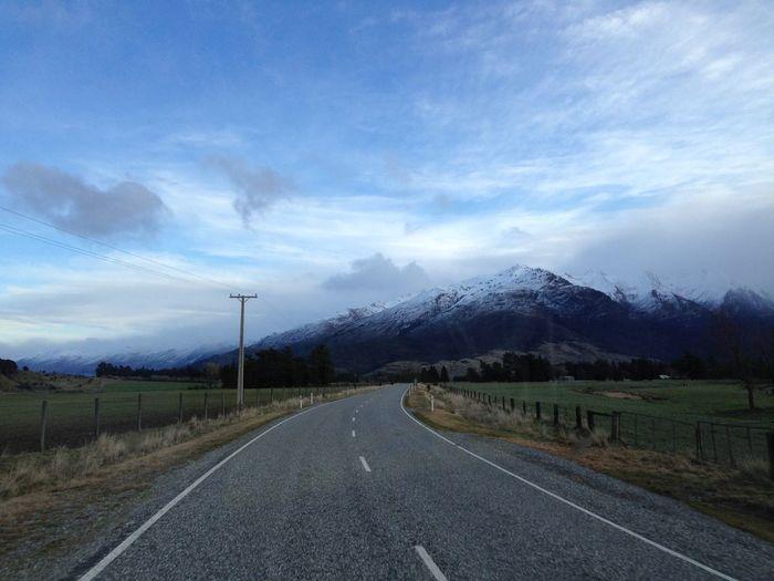 Sky Cloud - Sky Direction The Way Forward Transportation Mountain