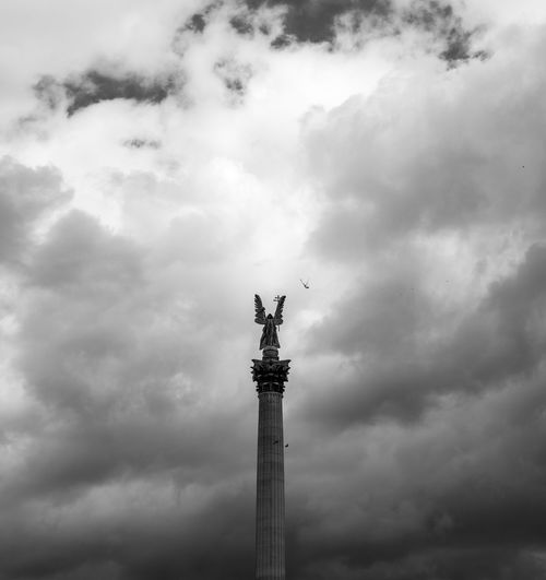 Where birds have never been Hungary Budapest Cloud - Sky Sky Low Angle View Architecture No People Sculpture Statue Bird Art And Craft Outdoors Architectural Column