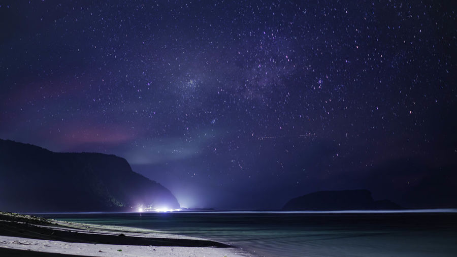 Beach Clouds And Sky Island Long Exposure Milkyway Night Ocean Sony Stars