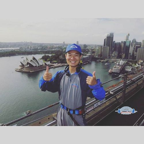 來到雪梨就是要爬雪梨港灣大橋,不然要幹嘛?XD😆😆😆SydneyHarbourBridge Climbebridge