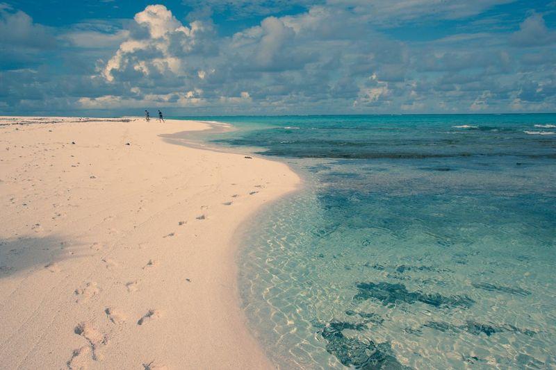 EyeEm Selects Sea Beach Sand Sky Horizon Over Water Nature Scenics Beauty In Nature Shore Tranquility Tranquil Scene Cloud - Sky Water Day Outdoors No People Travel Photography Fiji Photos Fiji Islands Travel Destinations Fiji
