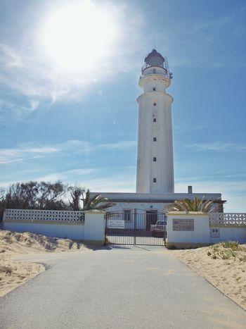 The lighthouse at Cape Trafalgar Lighthouse Travel Destinations No People Vacations Sky Sand Day Outdoors Nature SPAIN Costa De La Luz EyeEm Gallery Enjoying Life Architecture Lighthouse_lovers See The World Historical Place Against The Sun Lighthouse_captures Lighthouses Lighthousephotography Be. Ready.