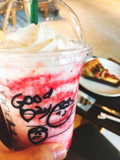Starbucks Strawberry Frappucino Goodday
