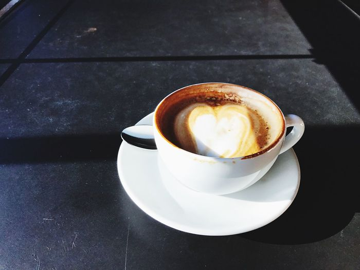 Always Be Cozy Coffee Cup Coffee - Drink Drink Refreshment Saucer Cappuccino Frothy Drink Table Food And Drink High Angle View Froth Art Freshness No People Indoors  Close-up Latte Day