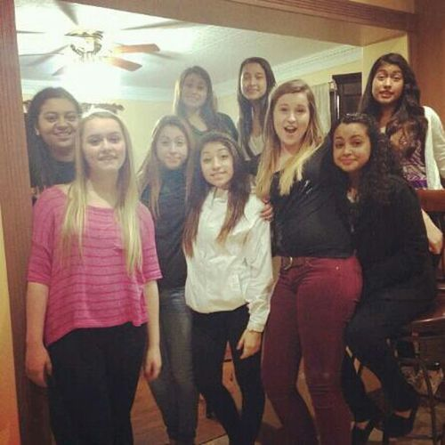 Last night with the babes(: