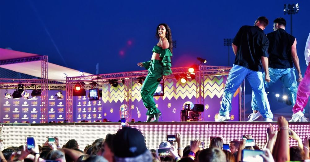 Olympic Stadium of Athens Hellena Foureira Adult Adults Only Arts Culture And Entertainment Audience Casual Clothing Crowd Enjoyment Fun Group Of People Illuminated Large Group Of People Leisure Activity Lifestyles Men Night Outdoors People Real People Sky Spectator Young Women