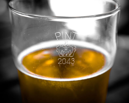 Half Pint Glass Half Full Glass Half Empty Pint Cider Beer Pub Bar Thirsty  Drinking