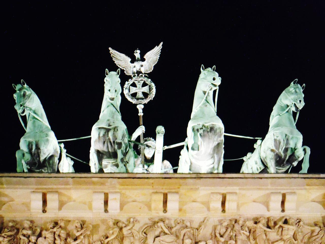Low Angle View Of Quadriga On Brandenburg Gate