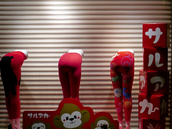 Happy New Year : When red underwear is put on in a year of the monkey(2016), you can have healthily. 2016 start now. Please put on deep red power. by Wacoal Corporation. 🐵 Happy New Year 2016 Happy New Years From Me And My Little Monkey In Nagasaki Night Light Red Power  Showcase:January Window Display Photography
