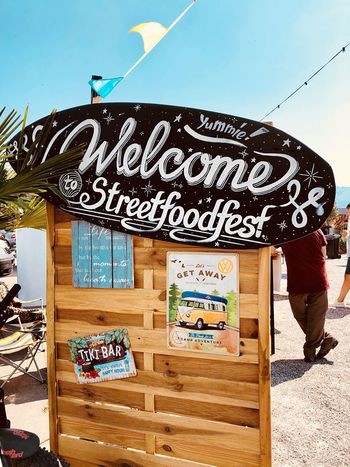 Alternativ Food... Summer Lifestyle EyeEmNewHere First Eyeem Photo Exotic Switzerland Market Food Text Sky Communication Day Built Structure Western Script Architecture Art And Craft Graffiti Outdoors Creativity Information Sign No People Wall