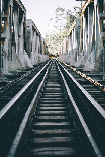 View Of Railway Bridge Against Sky