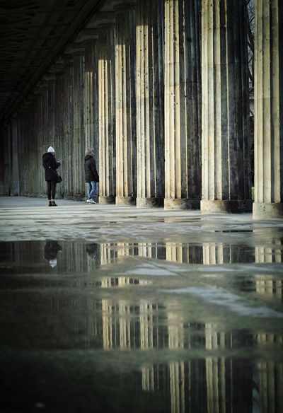 Architectural Column Architecture Built Structure Darkness And Light Lifestyles Real People Reflection Reflection_collection Water