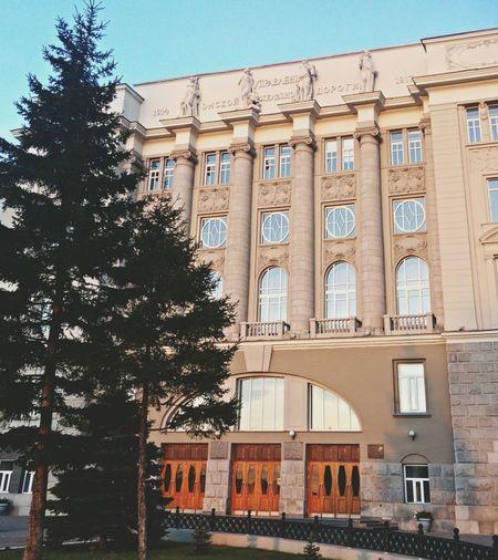 Управление Омской Железной Дороги First Eyeem Photo красивое здание РЖД Street