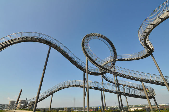 Architecture Blue Built Structure Clear Sky Day Engineering Germany Halden Low Angle View Metallic Ruhrgebiet Tiger And Turtle Tourism