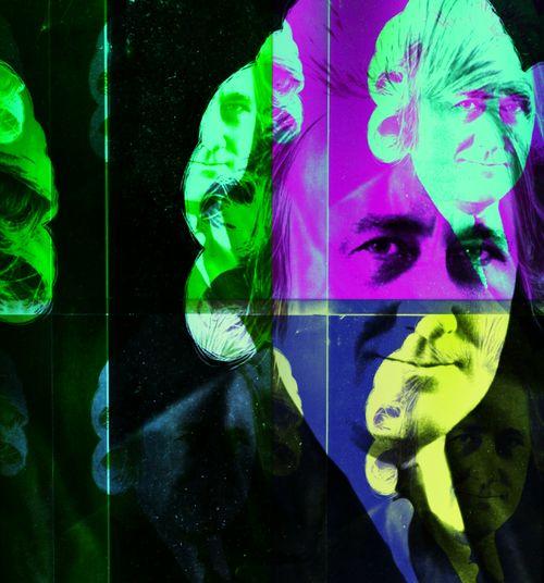 Portrait Pop Art Cyanotype Colored Hairstyle From My Point Of View We Did It Morning Hunger et moi et moi et moi.... Jamais 2 Sans 3 Fire - Natural Phenomenon Dans La Fumée Des Cigares