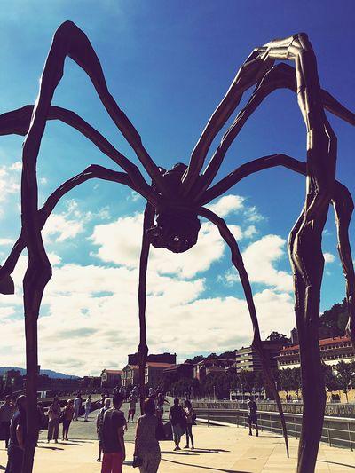 The giant spider Surealism WorldUpsideDown Spider Bilbao Art Guggenheimmuseum Real People Crowd