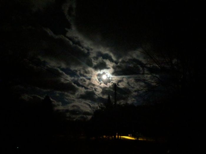 Scenic view of moon in sky at night