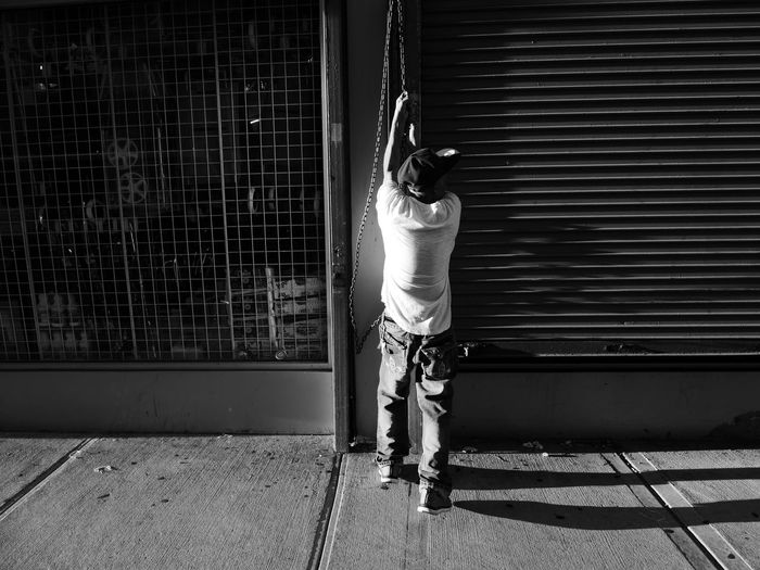 Black & White Brooklyn Light Magic Hour New York Architecture Day One Person Outdoors Real People