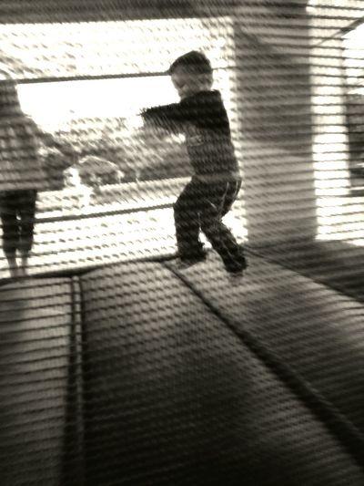 Kids Having Fun Enjoying Life EyeEm Black&white! Bouncehouse Fun Friends