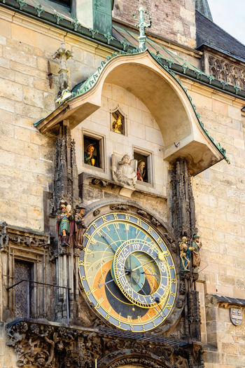 Detail of astronomical clock on old town hall, in Prague, Czech Republic Closeup Detail Castle Cathedral Church Czech Republic Heritage Monument Sign Gold Tourist Antique Capital Baroque Orloj Circle Astrological Astrology Praha Zodiac Science Historic Culture Symbol Square Building Astronomy Ancient Medieval European  Tourism Historical Time Famous Tower City Landmark History Gothic Europe Travel Architecture Hall Town Old Republic Czech Astronomical Clock Prague