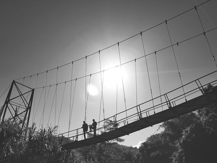 Samsung Galaxy S7 Edge S7 Edge Photography Beautiful Day Landscape River View Beauty In Nature Bridge Over The River Bridges Of The World Bridges Bridge Photography Bridges_aroundtheworld Bridge Construction Black & White Black & White Photography Blackandwhite Be. Ready. Black And White Friday