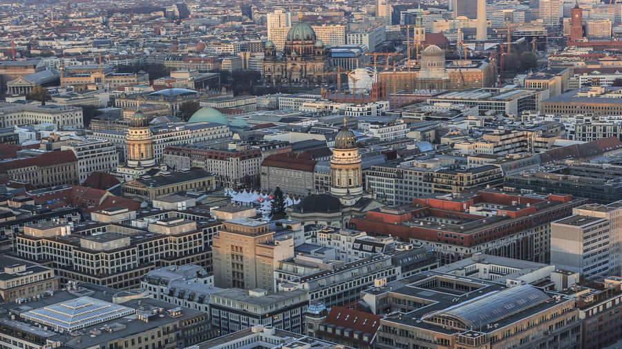Aerial View Architecture Beautiful Berlin Berliner Ansichten Building Exterior Built Structure City Cityscape Day No People Outdoors Sky Skyline Travel Destinations TV Tower Urban Skyline View View From Above View From The Top Viewpoint Views