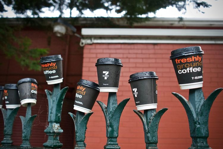 7-11 7-ELEVEN Coffee Coffee - Drink Coffee Cups Garbage Art Leicacamera Street Art Take Away Coffee