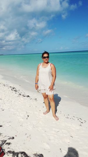 Cayo Coco Cuba Sea Full Length Beach Standing Sand Relaxation Summer Blue Water Snorkeling