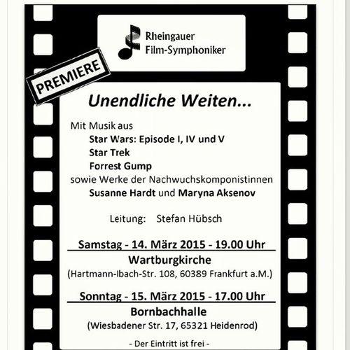 Alle sind herzlich eingeladen! All of you are invited! Concert musik Music Soundtrack Filmmusik Filmmusic Orchestra