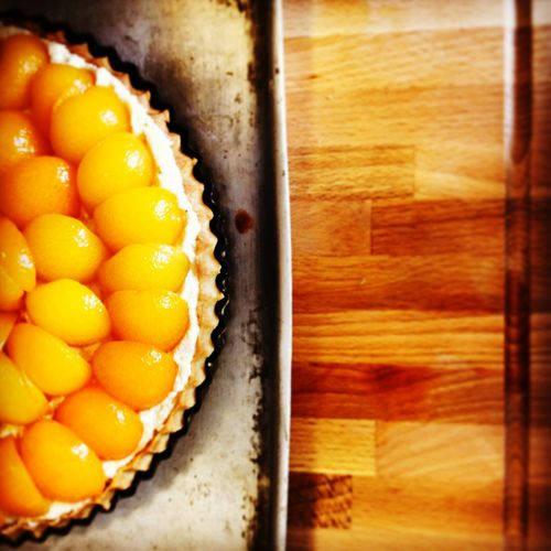 The aroma when the oven door opens... Peaches Peachy Baking Frangipane Fresh Vibrant Simplicity Tart Food Foodphotography EyeEmNewHere The Week On EyeEm Wood Grain Metal Pastry Frangipani Frangipan Fluted Pastry Case Close-up Juicy Juicy Fruit Mouth Watering Sweet Food Sweet Pie