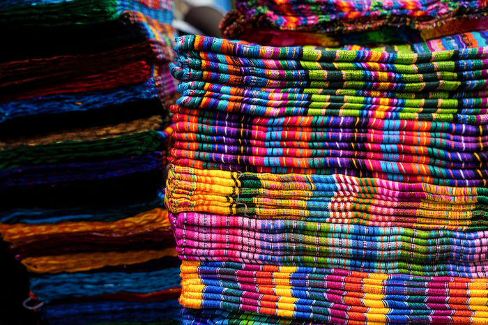 Chichicastenango Chichicastenango Market Scene Chichicastenango, Guatemala Guatemala Chic Choice Close-up Colorful For Sale Full Frame Guate Indoors  Large Group Of Objects Market Multi Colored No People Pattern Retail  Stack Store Textile Textile Industry Textured  Variation Wool